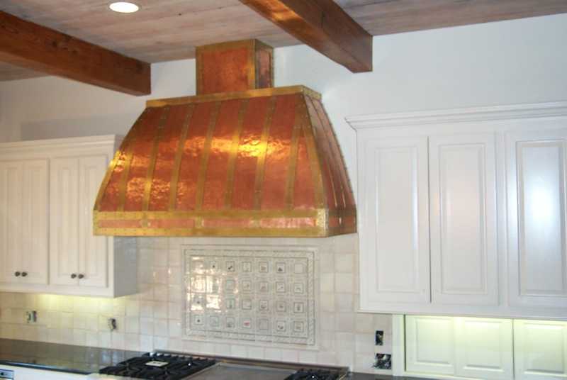 Vent hoods custom metal range hoods misita designs - Wonderful kitchen layout plans for totally comfortable cooking time ...