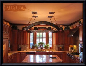 Custom Pot Rack in Kitchen
