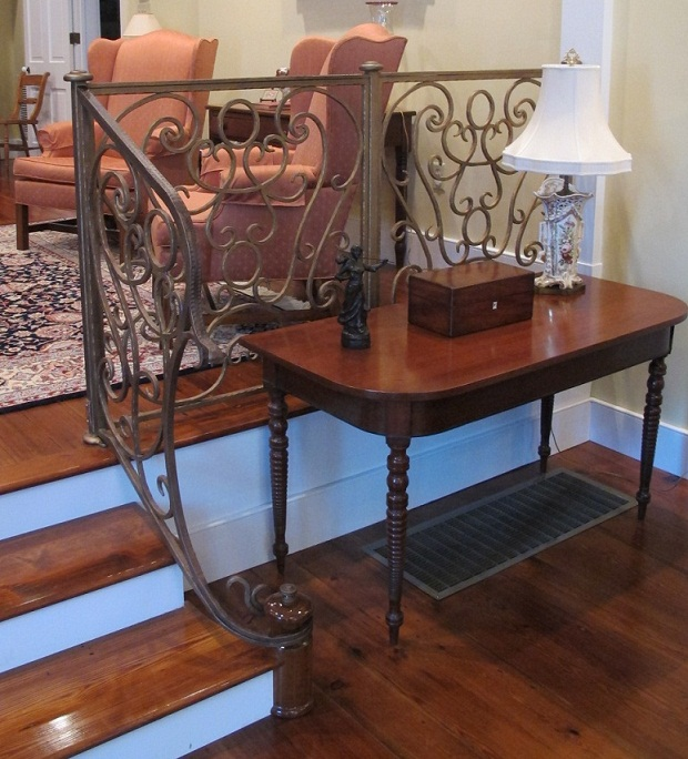 custom handrails and table