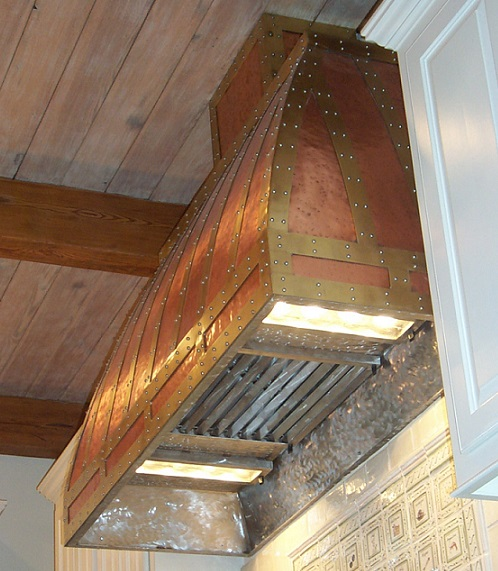 Copper Vent Hood With Br Trim This